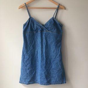 American Eagle Denim Keyhole Dress Size 6